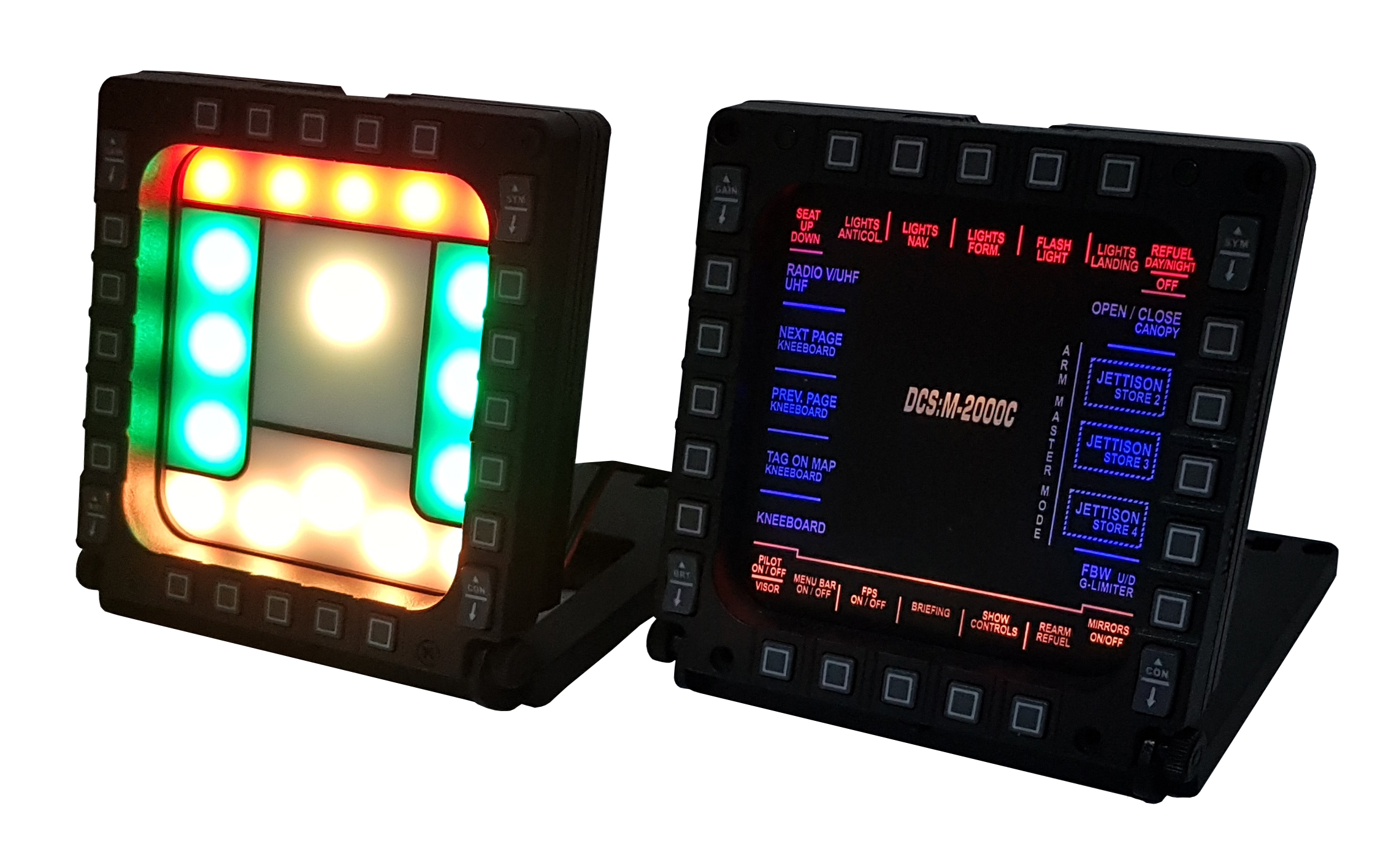 PRDevices - backlight panels for Thrustmaster MFD